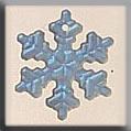 12161 - Small Snowflake Mt Crystal AB 12mm - 1 per pkg